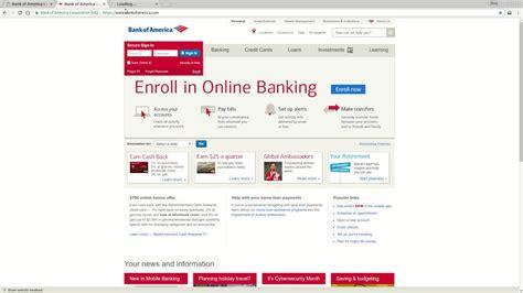 tutorial online banking bank of america online banking login tutorial youtube
