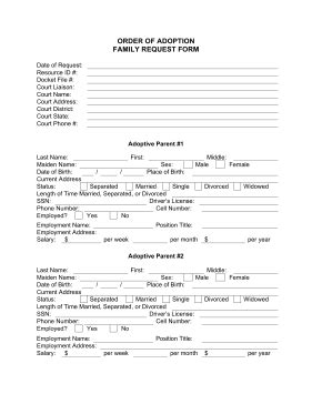 12 Best Photos Of Fake Adoption Forms Fake Adoption Application Form Adoption Paper Forms And Child Adoption Agreement Template