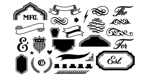 design elements vector pack the hand drawn lettering elements vector pack