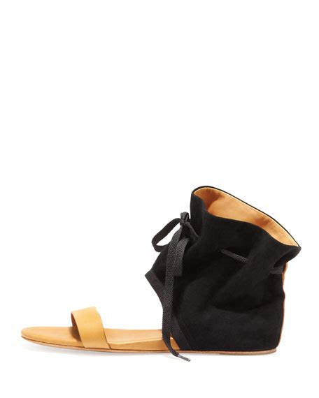 ankle cuff flat sandals see by ankle cuff flat sandal