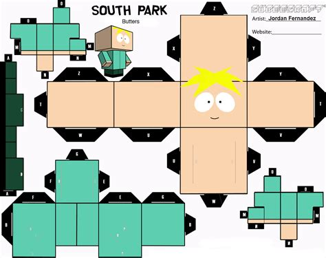South Park Papercraft - butters cubee template by jordof131 on deviantart