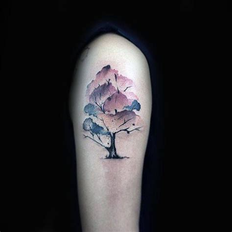 small manly tattoos 70 watercolor tree designs for manly nature