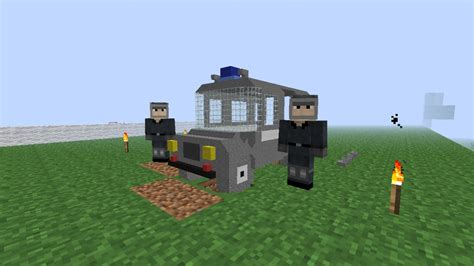 minecraft police nysa 522 police car 1 1 scale minecraft project