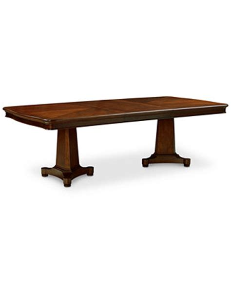 Macys Dining Tables Bordeaux Pedestal Expandable Dining Table Furniture Macy S