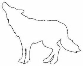 Wolf Animal Outline Drawings Sketch Coloring Page sketch template