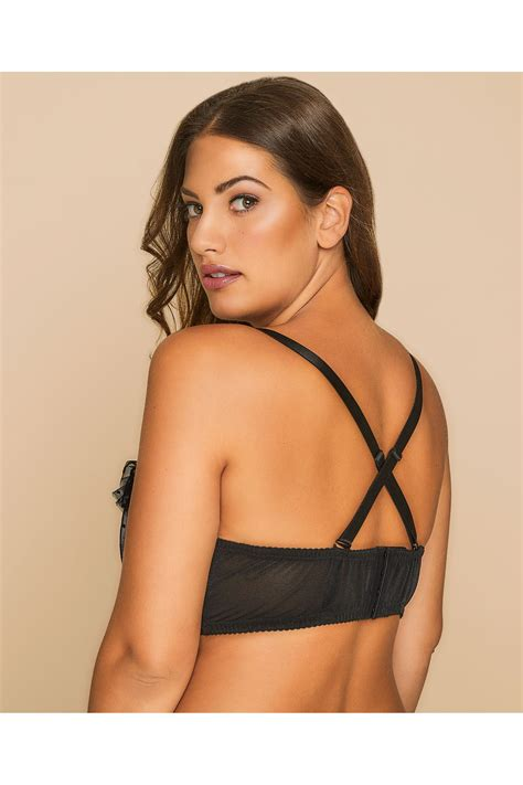 German Email Address Finder Black Pink Underwired Multiway Bra With Frill Detail And Removable Straps