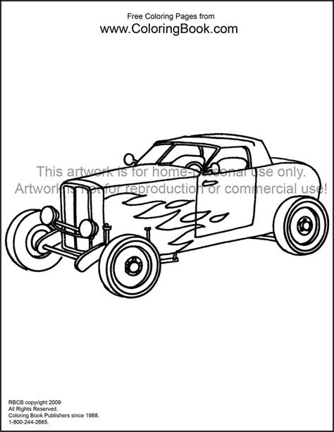 printable coloring pages hot rods hot rod free coloring pages