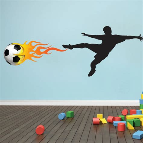 soccer wall mural soccer player wall mural decal soccer bedroom design