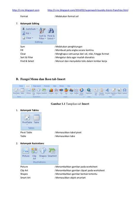 gambar ikon format pointer fungsi menu dan icon pada microsoft excel 2007