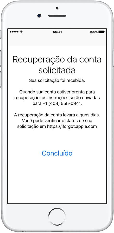 Recuperar o ID Apple caso não seja possível redefinir a