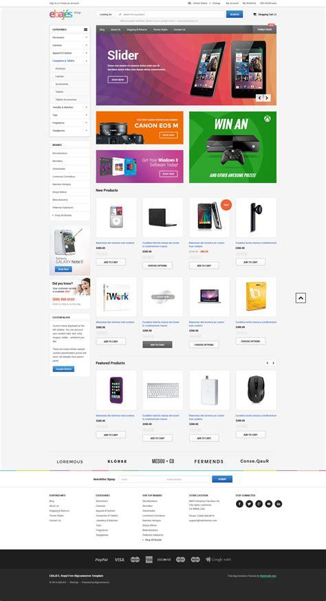 bigcommerce templates ebajes free responsive bigcommerce template themevale