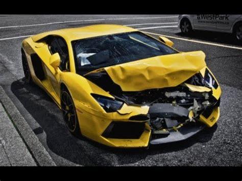 Salvage Lamborghini Aventador Wrecked Lamborghini Aventador Crashes On The Streets Of