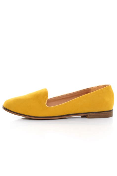 yellow loafers qupid 27 mustard velvet yellow loafer flats 26 00