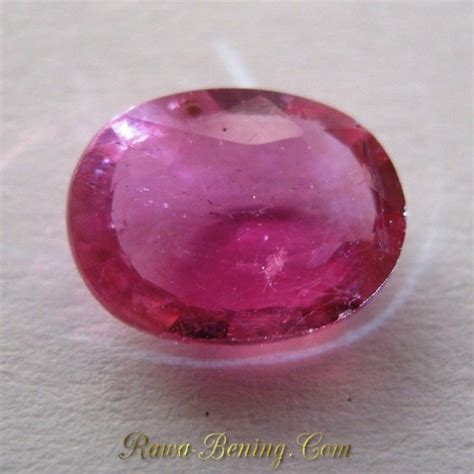 Merah Oval Cutting harga promo batu permata safir merah oval cut 1 45 carat