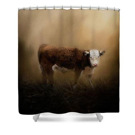farm animal curtains the lone calf shower curtain by jai johnson rustic farm