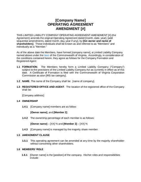Simple Llc Operating Agreement Template Edit Fill Sign Online Handypdf Simple Operating Agreement For Llc Template