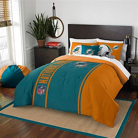dolphin bedding nfl miami dolphins bedding bed bath beyond