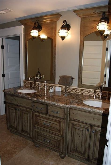 distressed bathroom cabinet love how this vanity looks like a built in cabinet