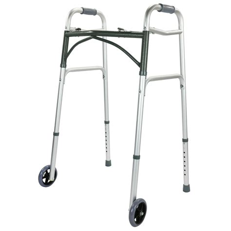 Frame Walker 2 aluminium walker height adjustable walking frame zimmer 2 wheels folding light ebay