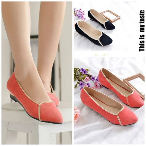 comfortable stylish flats 2015 new nurses shoes european style suede stitching