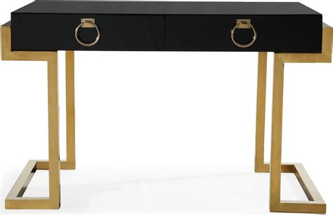 majesty black and gold desk g5491 tov furniture
