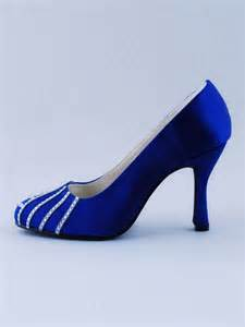 Royal blue wedding shoes low heel