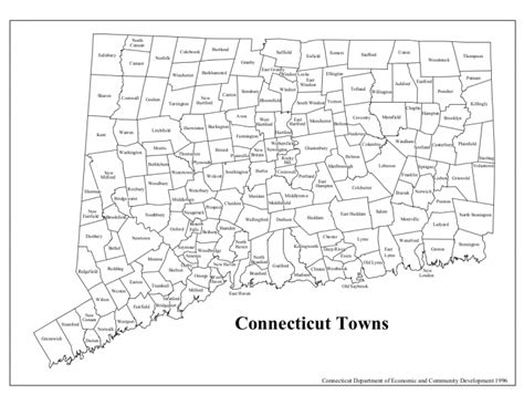 map of ct towns connecticut cities and towns wazeopedia