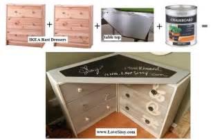 two ikea rast dressers a chalkboard paint corner desk top corner desk www lovesissy com