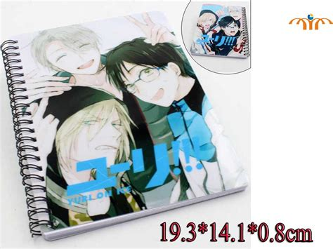 yuri on anime notebook yuri on paper products notebook