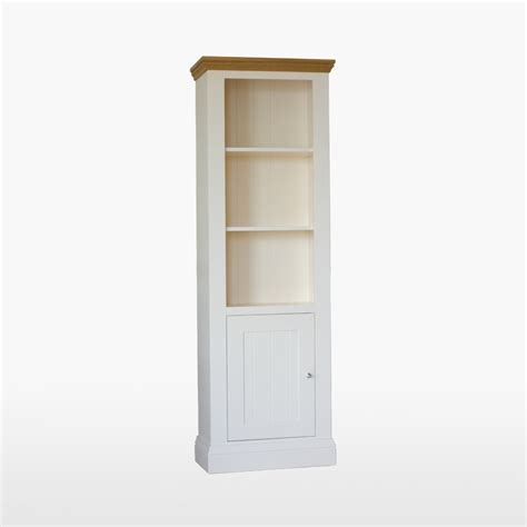 Narrow Bookshelf With Doors tch coelo narrow bookcase 1 door col506 pc furniture