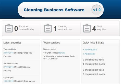 cleaning business software scheduling software features