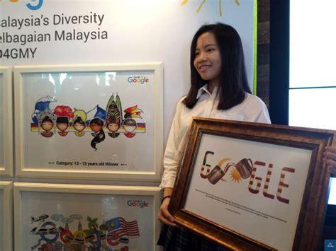 doodle terpanjang di malaysia pemenang doodle pada untuk hari malaysia 2017