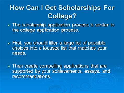 Getting The Scholarship If You Are Getting Mba by Scholarships For High School Students Ppt