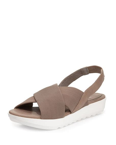 trek sandals eileen fisher trek crisscross wedge sandal quartz