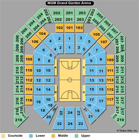 mgm grand seating chart boxing mgm grand garden arena seating