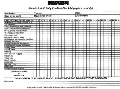 forklift checklist template search results for osha forklift checklist calendar 2015