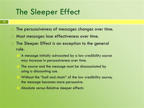 The Sleeper Effect by Ppt Credibility Powerpoint Presentation Id 120220