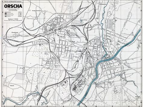 map of the city of german city and regional maps city map orsha april 1944