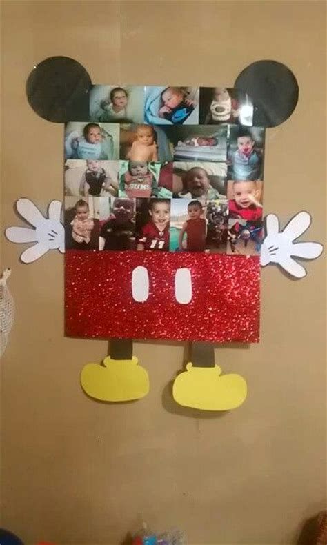 Mickey Mouse Handmade Decorations - finished w mickey mouse lil mans picture frame diy