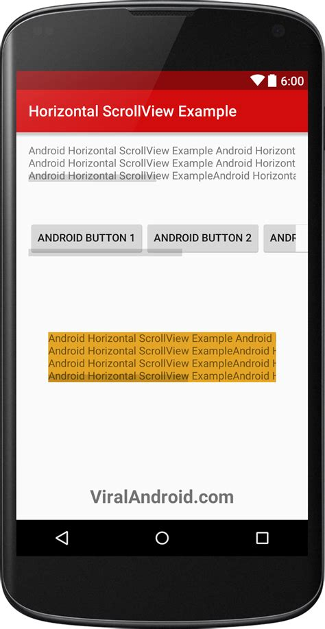 android scrollview exle pcs android horizontalscrollview exle viral android
