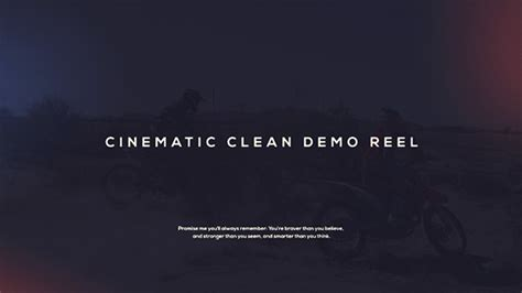 demo reel template cinematic demo reel special events after effects