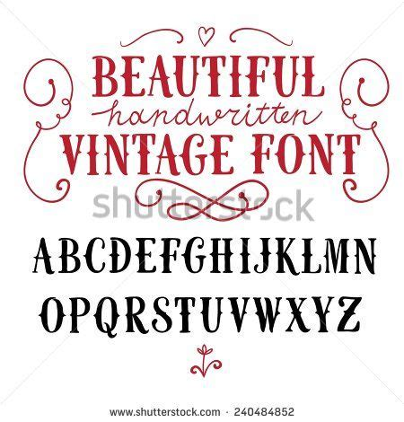 industrial design handwriting font hand drawn vintage vector abc letters nice font for your