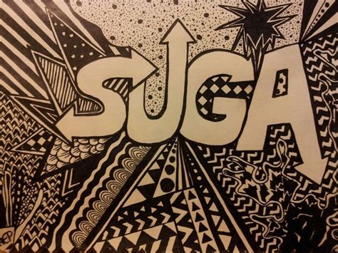 doodle kpop drawing doodle pattern kpop bts bangtanboys suga