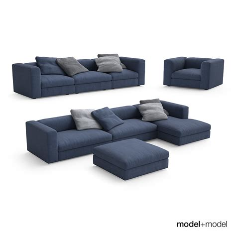 poliform couch poliform dune sofas armchair 3d model