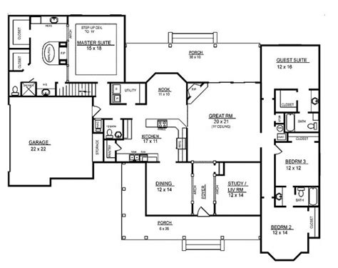 new 4 bedroom house plans four bedroom one story house plans archives new home