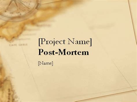 post mortem template powerpoint 18 best images about project mgmt on models