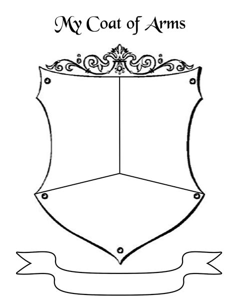 Create A Coat Of Arms Template the gallery for gt blank family crest printable