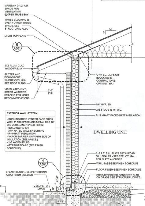 house wall section house blueprints terms