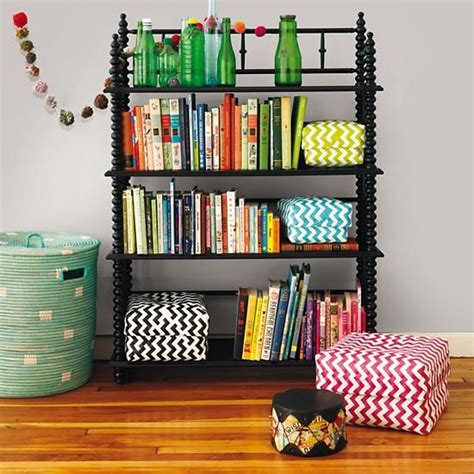 the land of nod lind bookcase black in bookcases