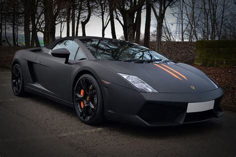 Lamborghini Gallardo Matte Black Lamborghini Gallardo Wrapped In Matte Black Reforma Uk
